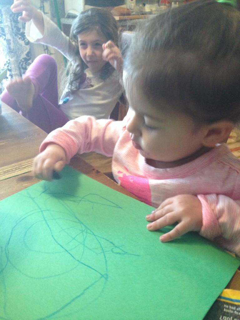 Lucy draws