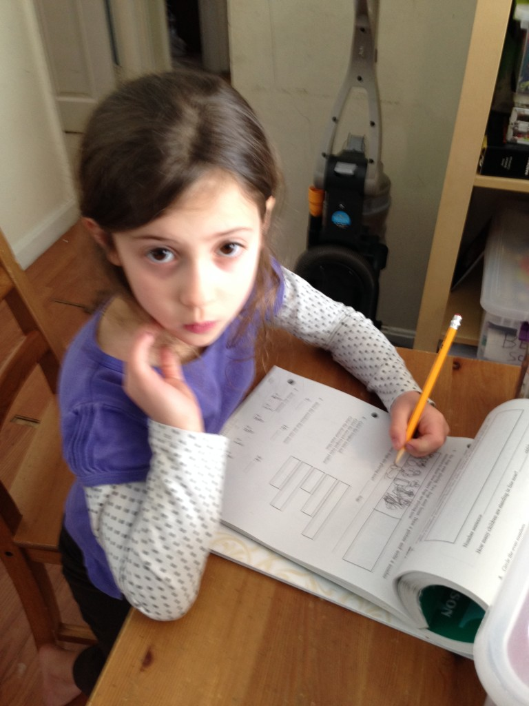 Sophie does math.