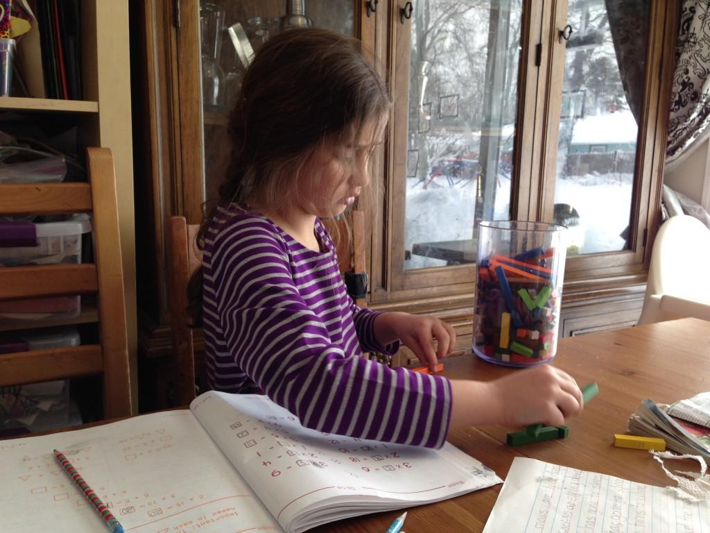 Bella does math.