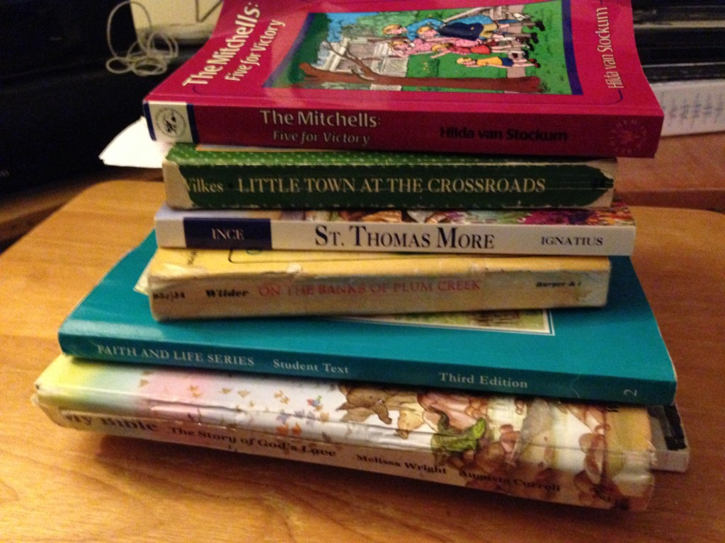 Afternoon reading pile.