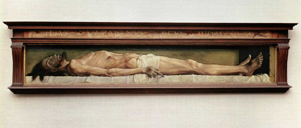 Dead Christ Entombed by Hans Holbein the Younger, 1521
