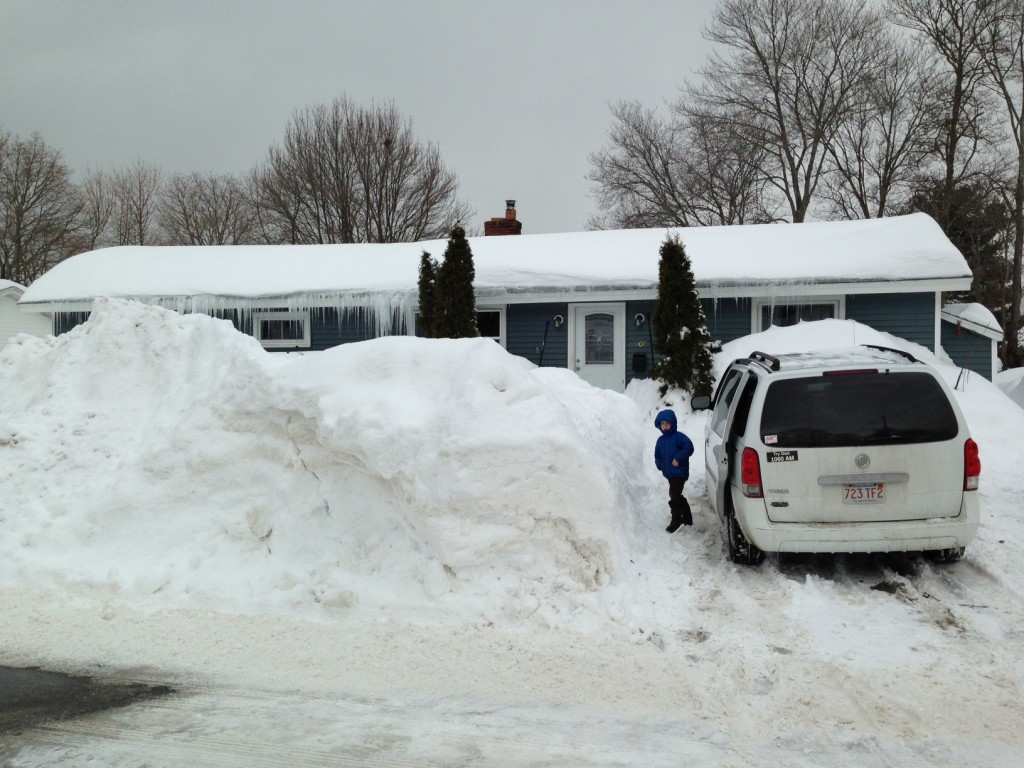 Our house seems almost buried from the street