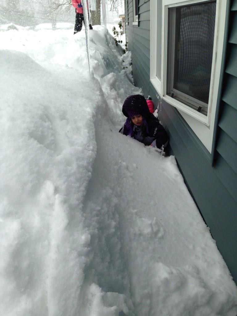 Sophie takes a tumble