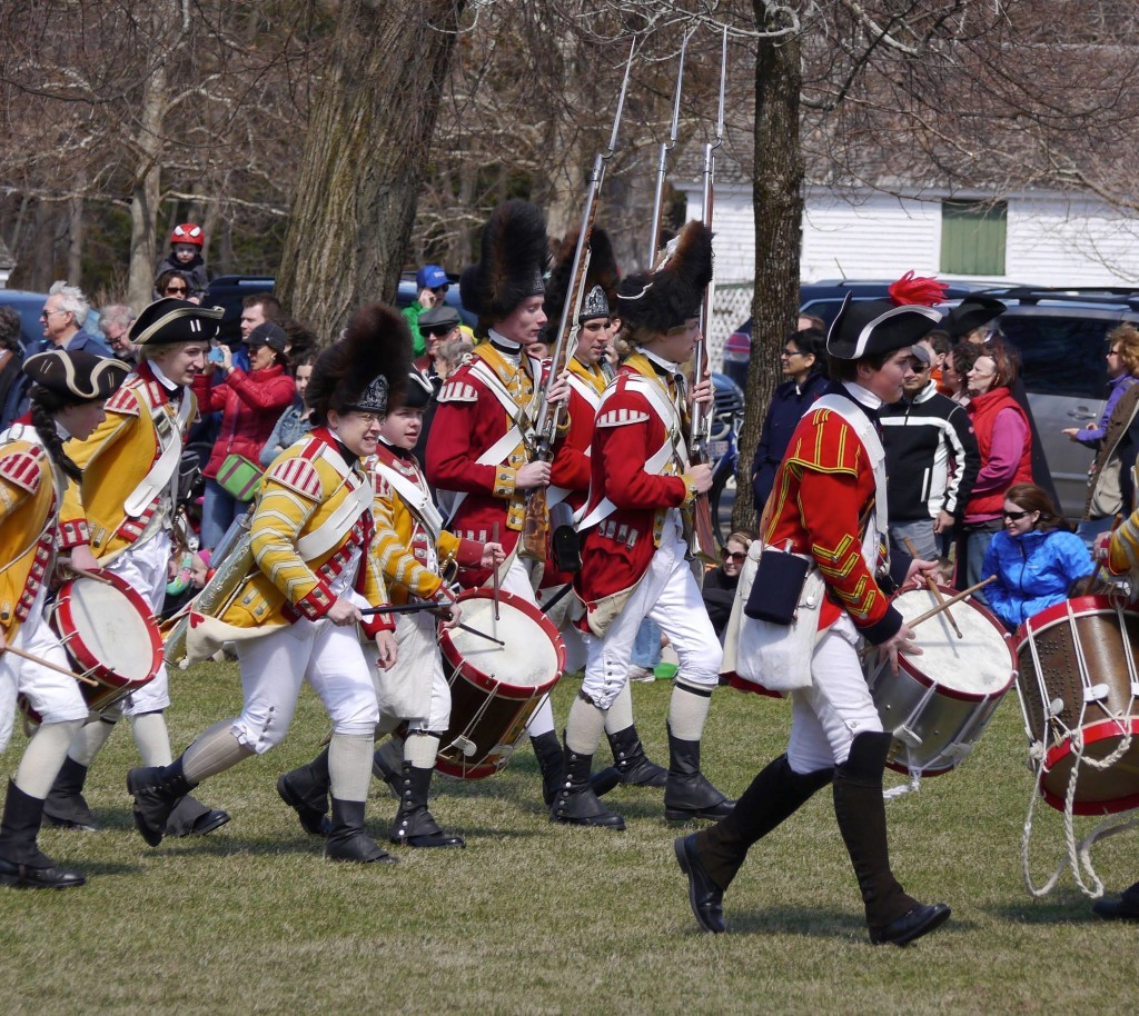 Marching with fifes and drums