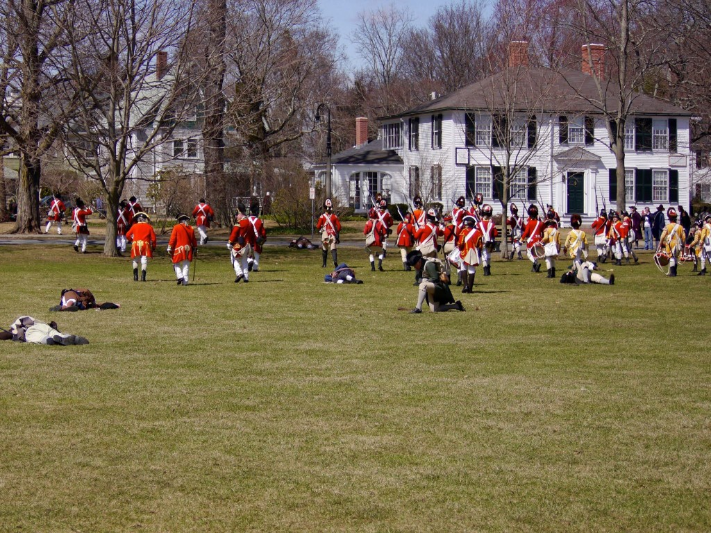 Redcoats chase the rebels