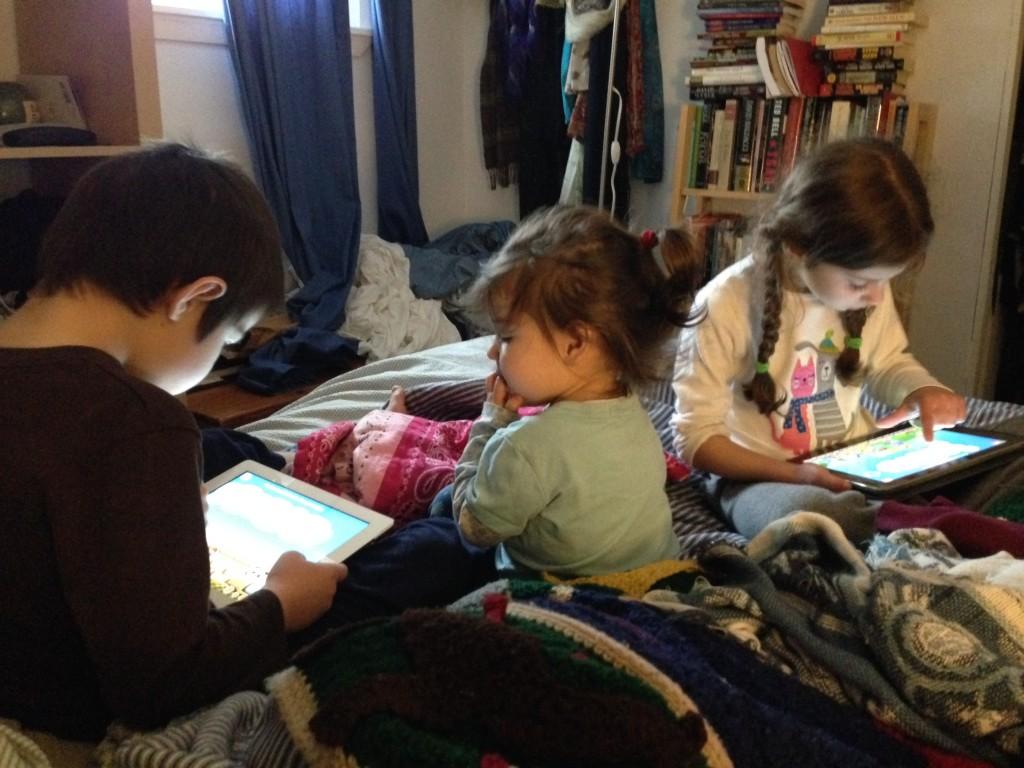 Sick day, iPad math