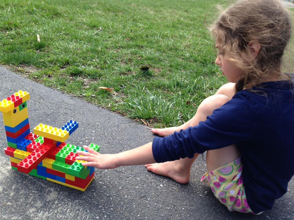 Sophie with her boat/truck/plane