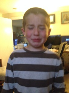 Ben is crying because Anthony didn't want to be with him.