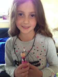Sophie received a handpainted Saint Sophia doll.
