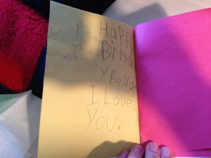 Sophie's card for Bella, page 2