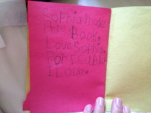 Sophie's card for Bella, page 4