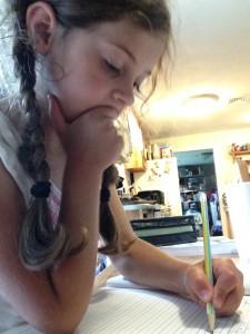 Sophie does copywork