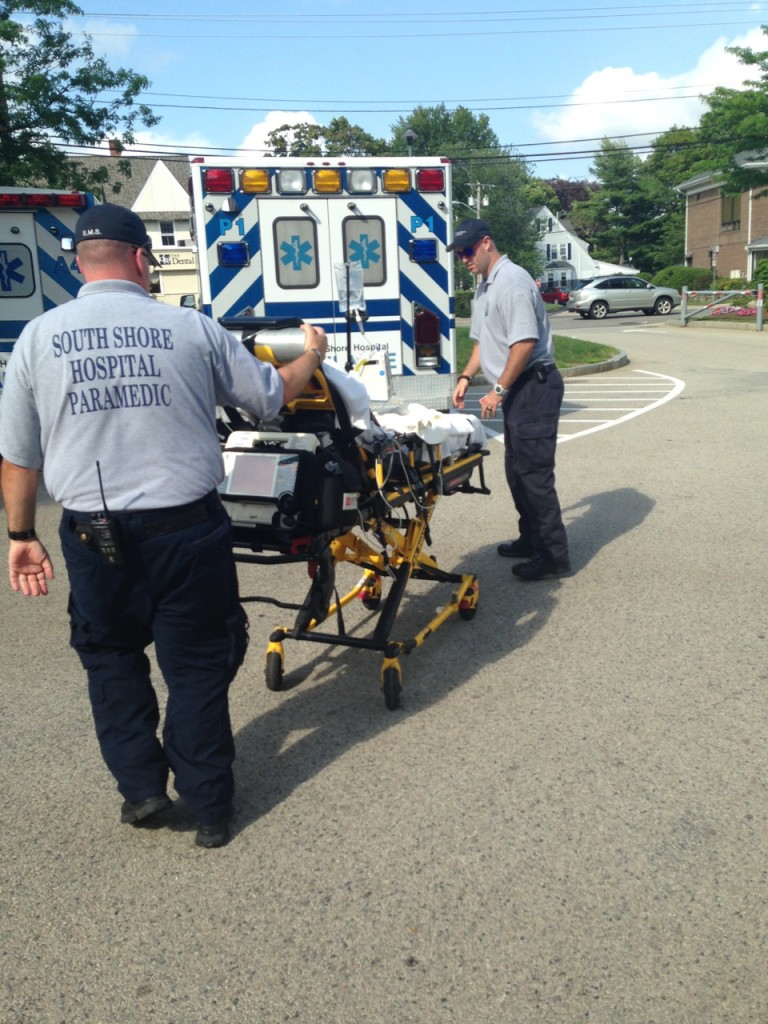 Rolling to the ambulance.