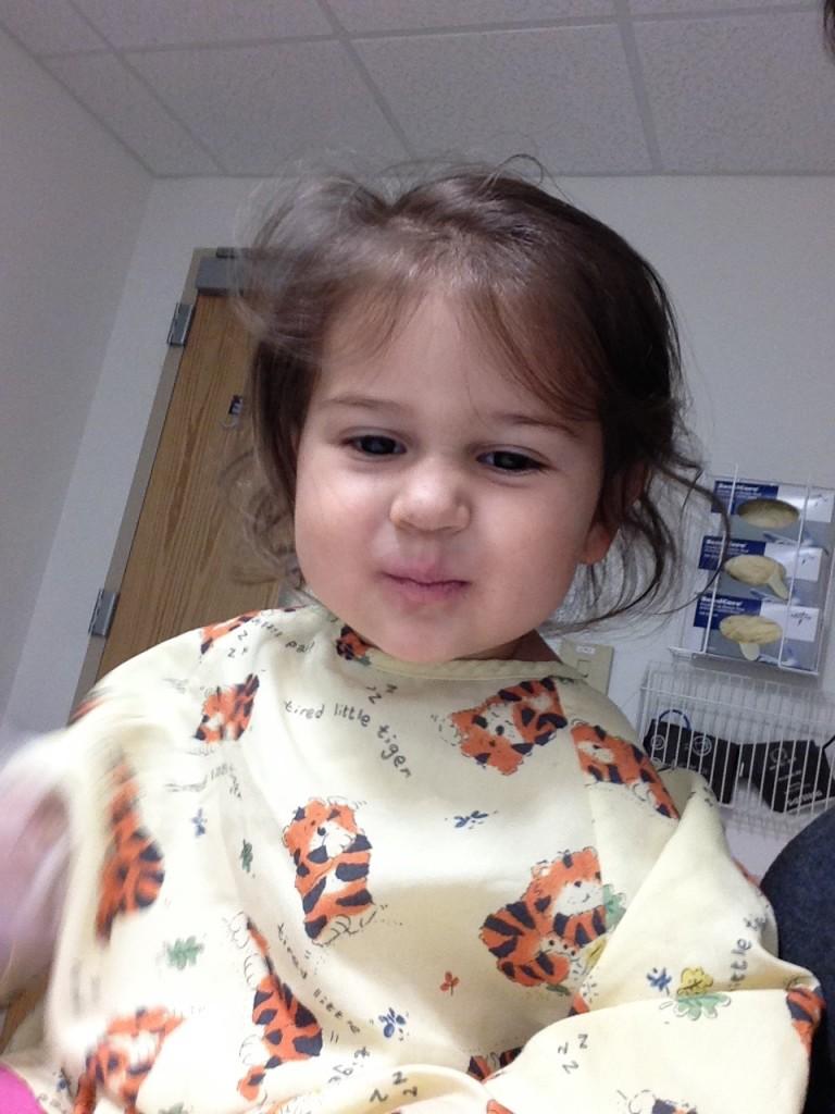 Feeling much better at Children's Hospital.