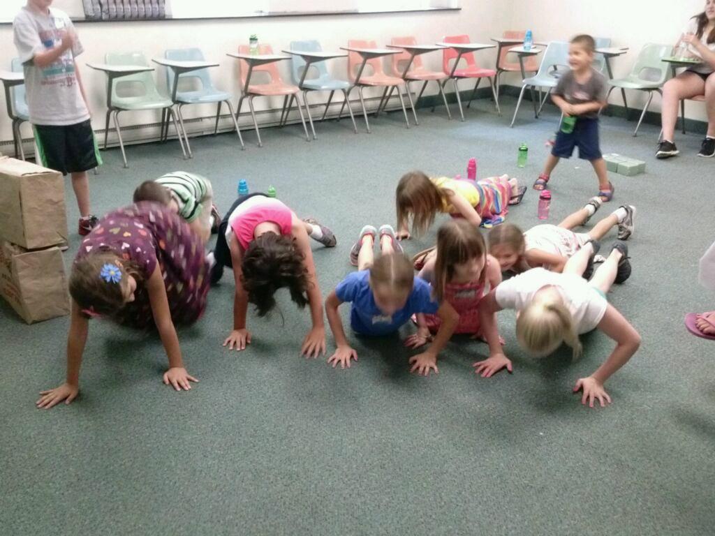 Having fun at Vacation Bible School.
