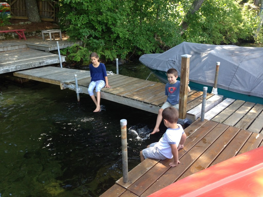 Kids on the dock.