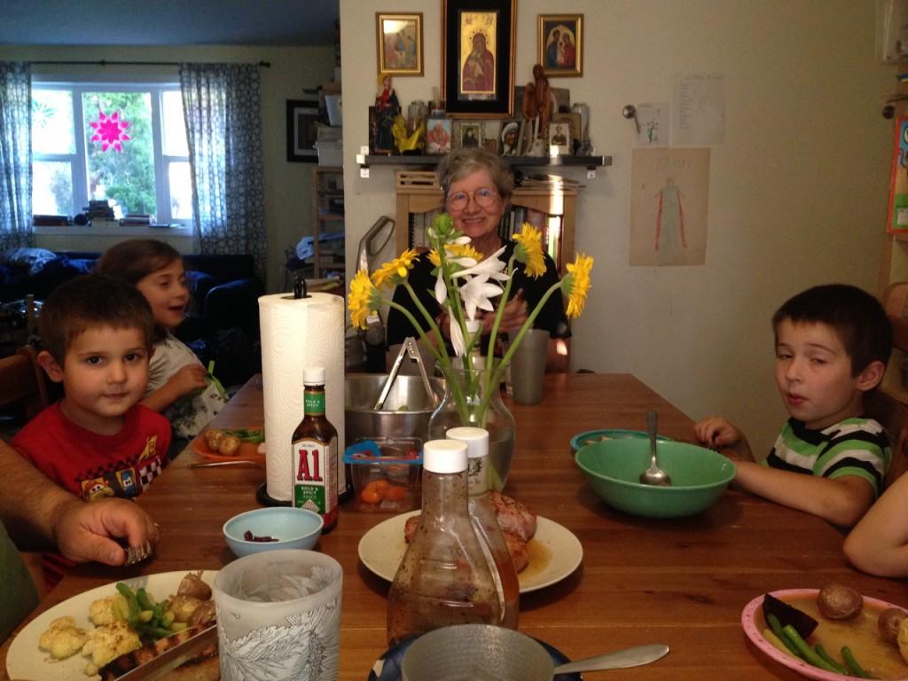 Dinner with Grandma.