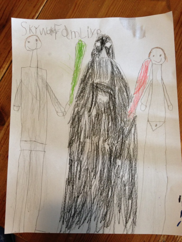 Sophie's picture of the Skywalker family