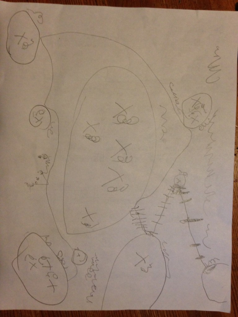 Sophie's pirate map.