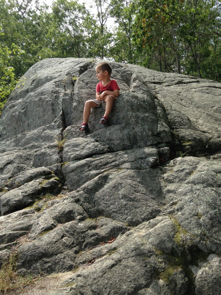 Anthony on the rock.