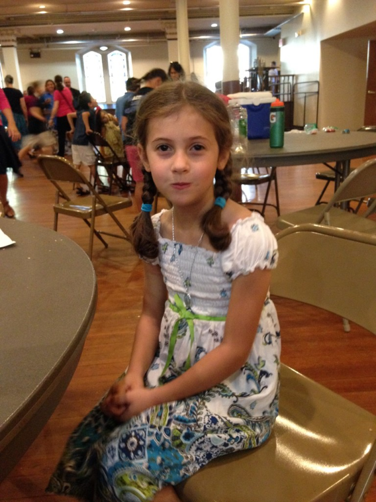 Sophie at the homeschooling Mass.