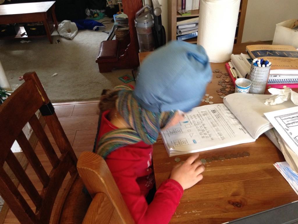 Sophie is a ninja doing math