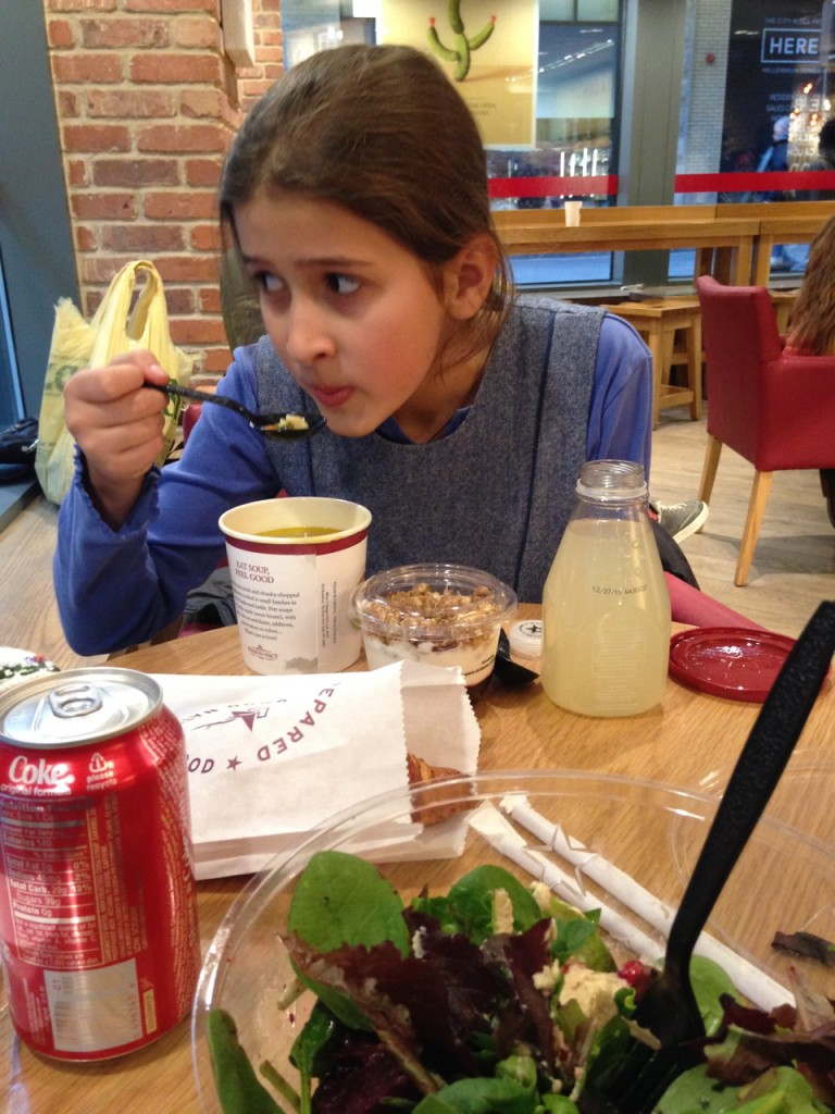 Bella and I had a pre-show dinner at Pret a Manger.