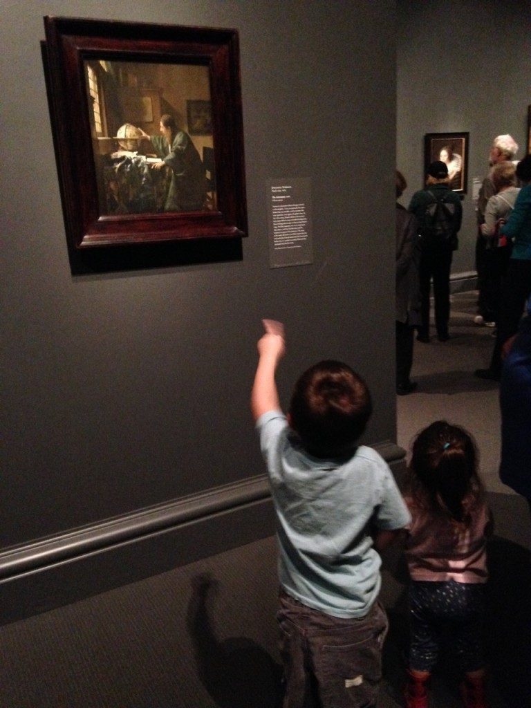 Anthony points out the Vermeer.