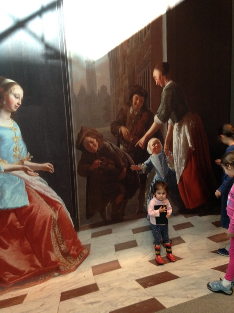 Getting into the art. The kids really likes  this chance to step into a replica of the painting.