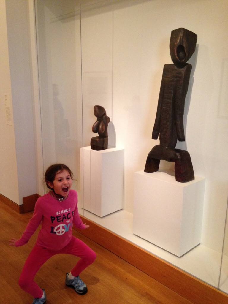 Sophie strikes a pose with an old friend