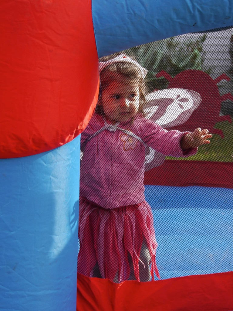 Lucy the fairy in the bounce house