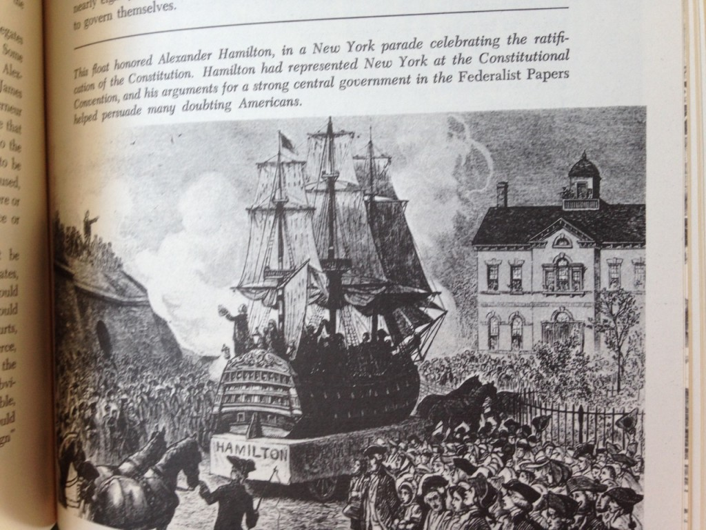 Hamilton parade image from History of US