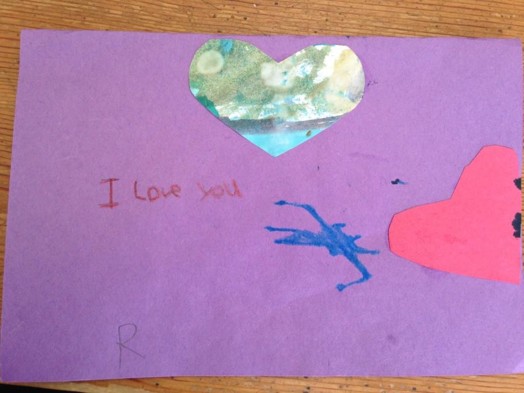 Bella made Sophie a Star Wars Valentine