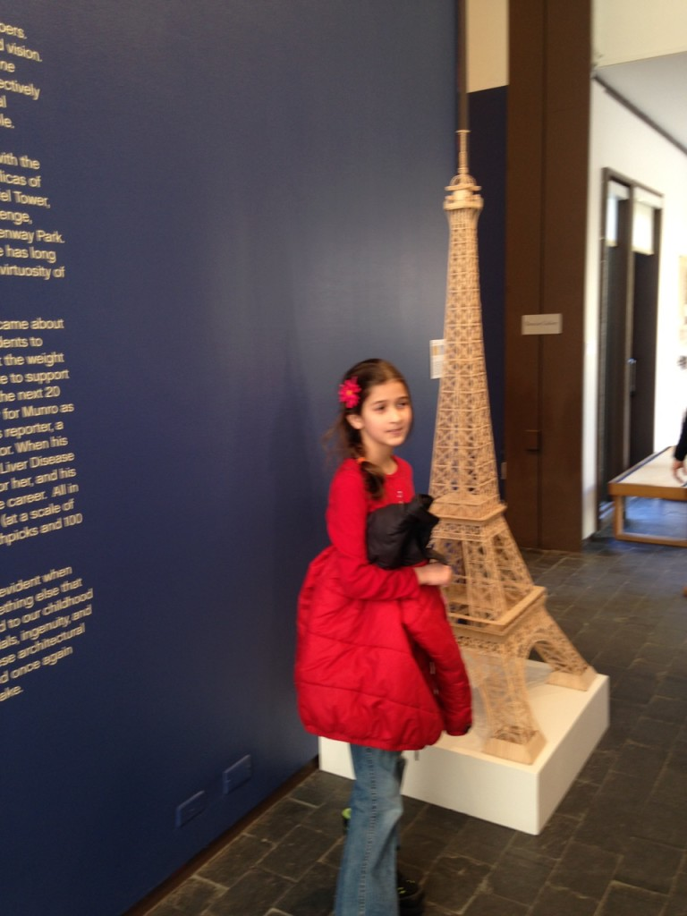 Toothpick Eiffel Tower.