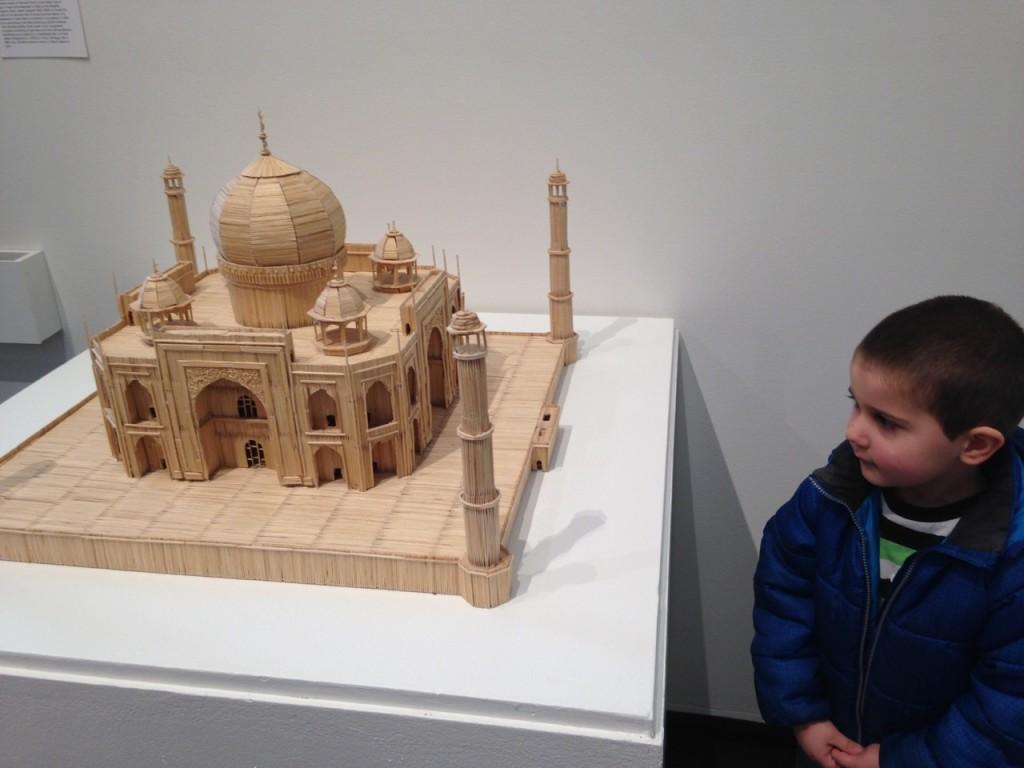 Toothpick Taj Mahal