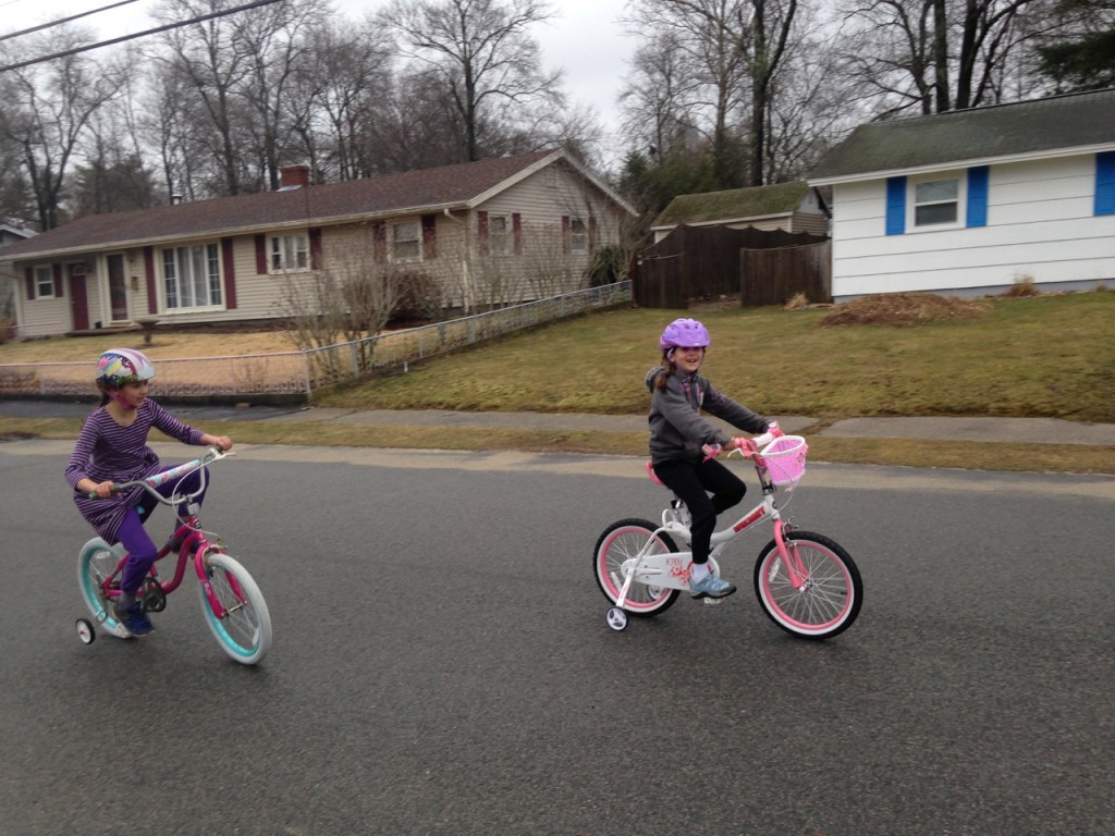 Sophie got her new bike in anticipation of her birthday.