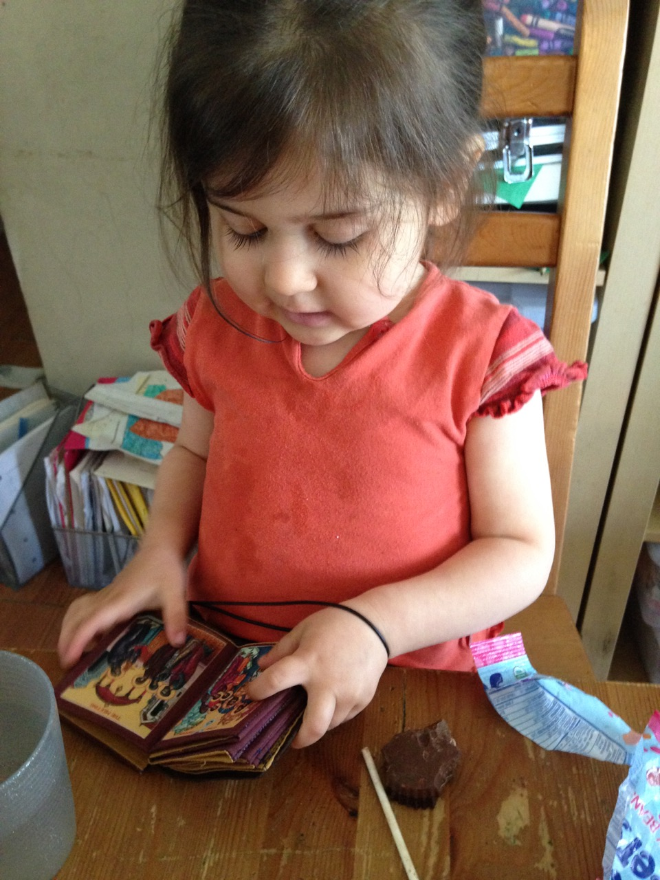 Lucy with her icon book.