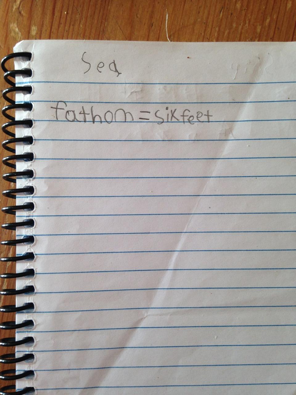Bella's notebook.