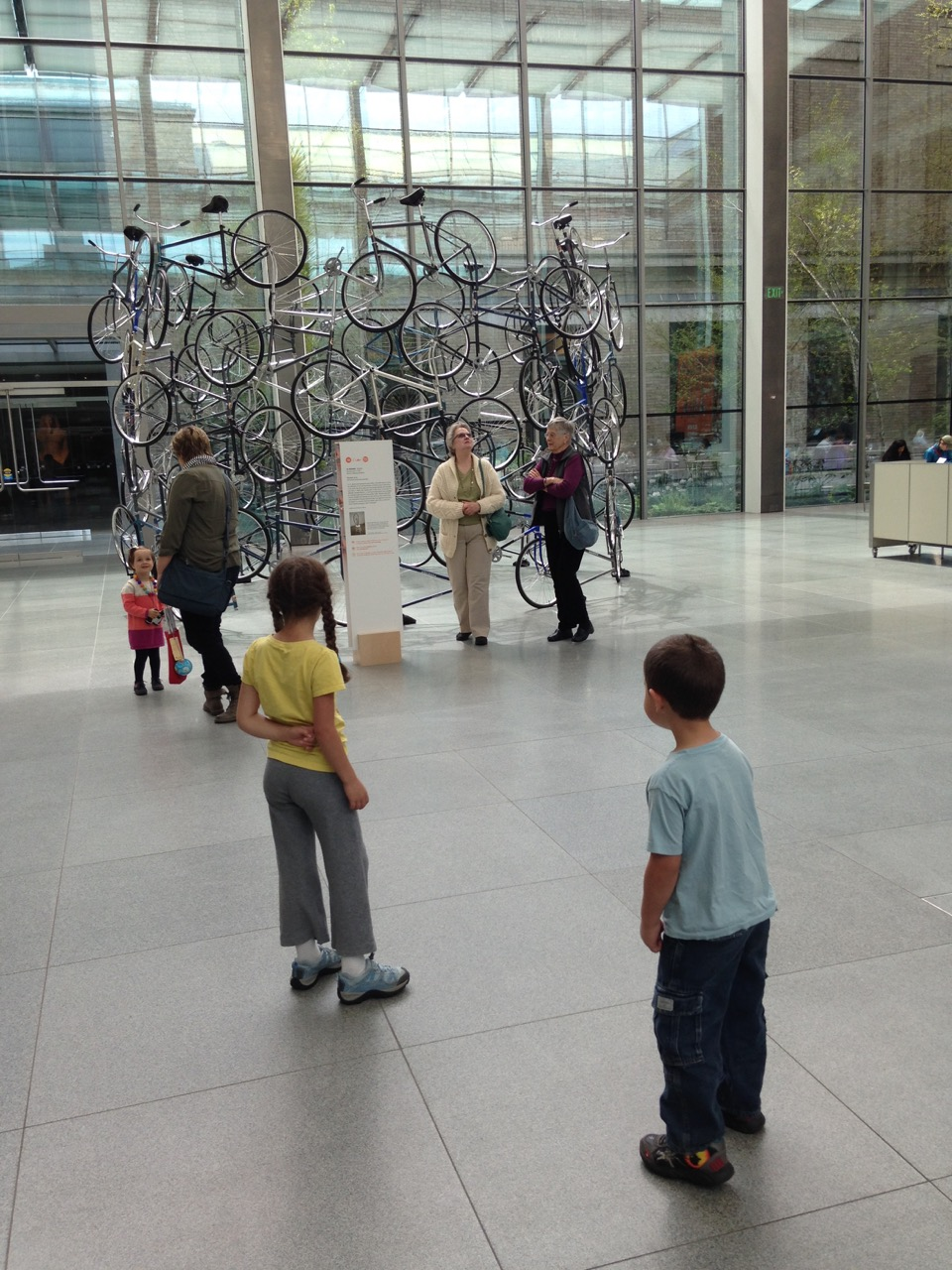 """Forever"" an installation made of bicycles from Chinese artist Ai Weiwei, part of the Megacities Asia exhibit."