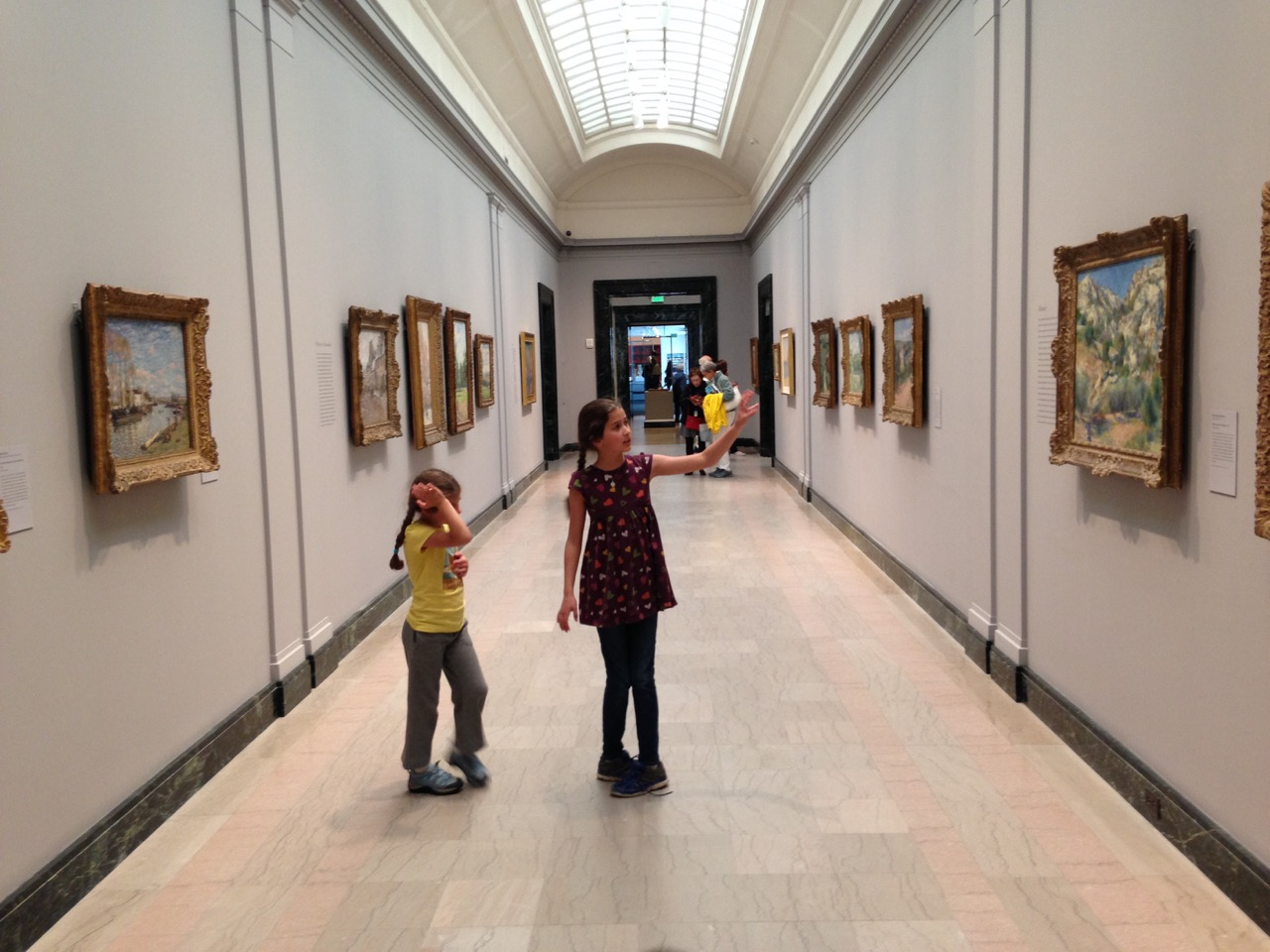 Bella and Sophie with the Impressionists.