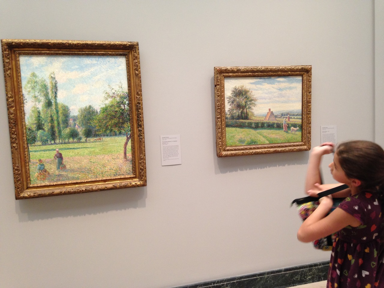 Bella with her beloved Impressionists.