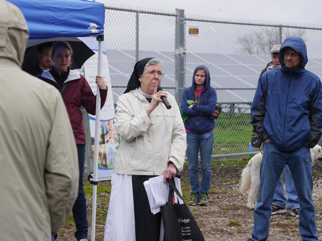 Sister Maryanne talks about the solar panels at Mount Saint Mary's Abbey