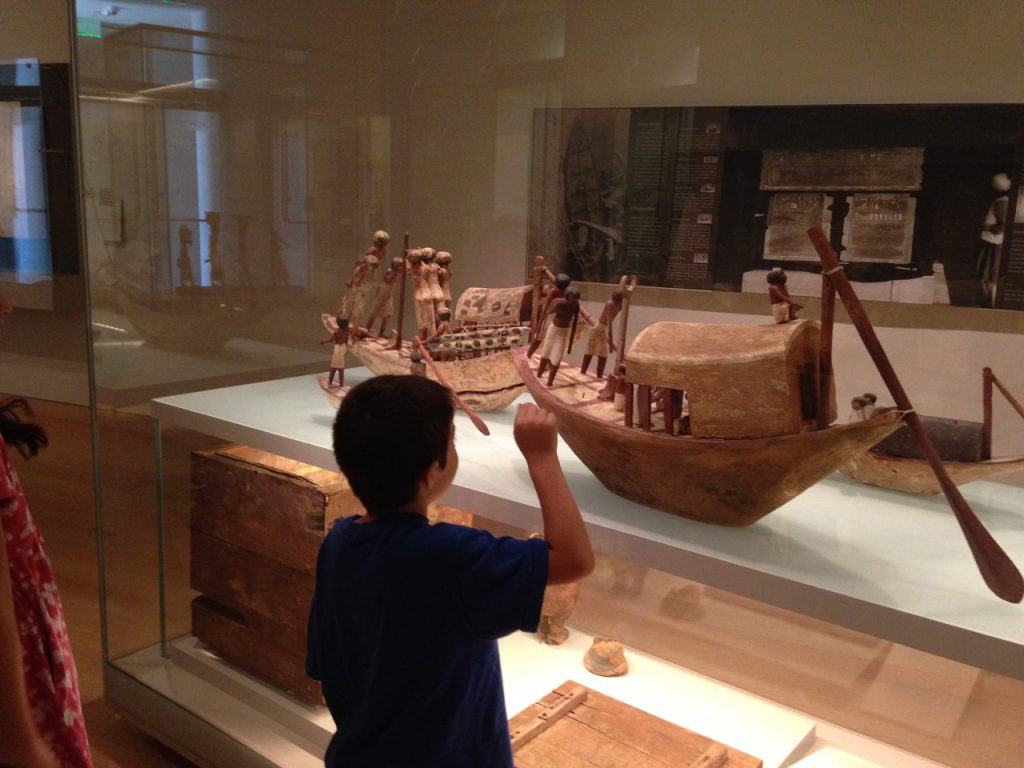 Ben looks at Egyptian boats.
