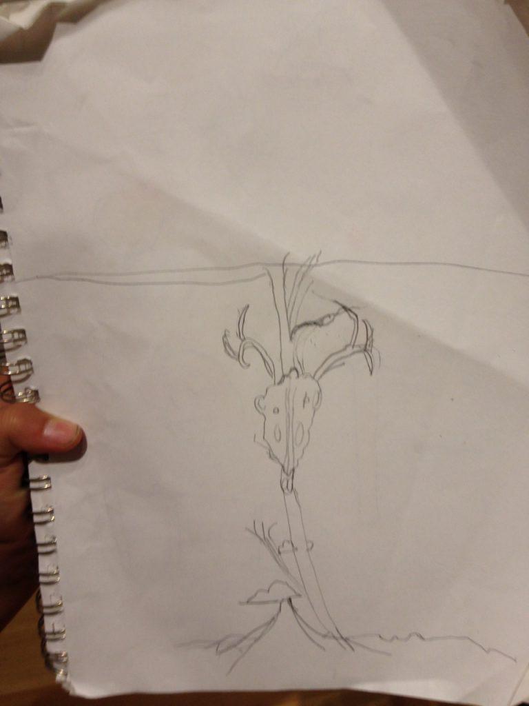 Bella's sketch.