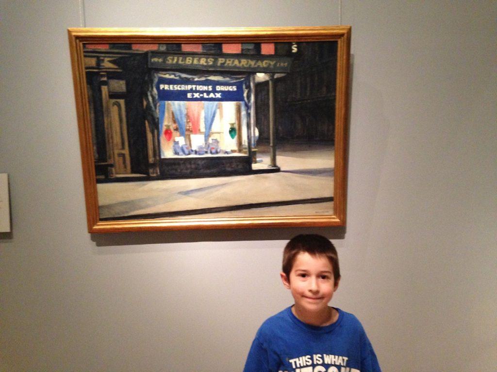 Ben with Edward Hopper.