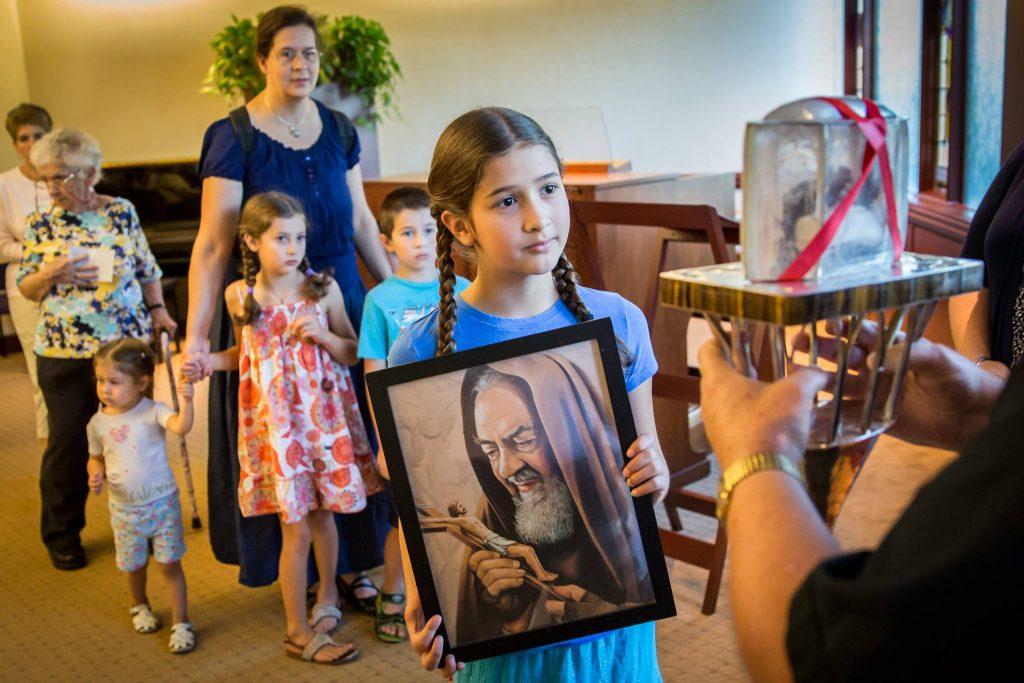 Bella with Padre Pio.