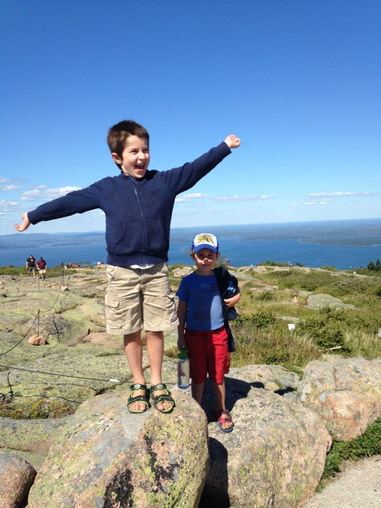 At the top of Cadillac Mountain.