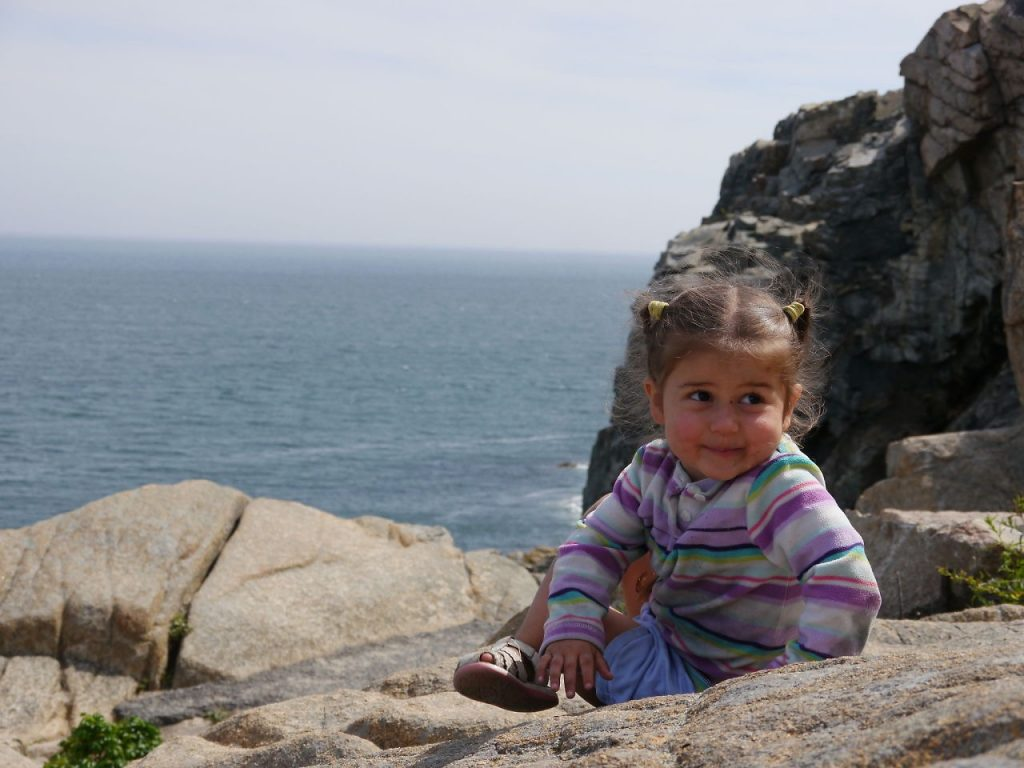 Lucy at Otter Cliffs.