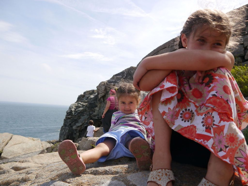Sisters at Otter Cliffs.
