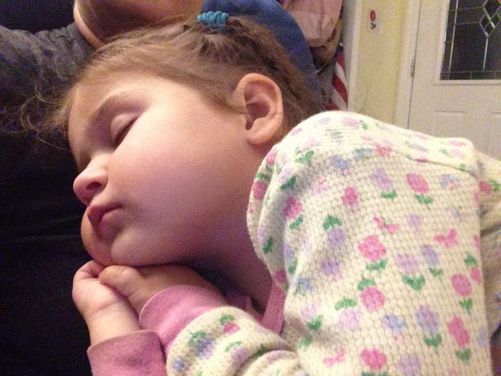 Beautiful sleeping toddler.